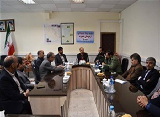 برگزاري جلسه ستاد پشتيباني اردو هاي هجرت شهرستان